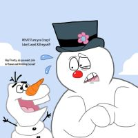 Olaf and Frosty by Cookie-Lovey