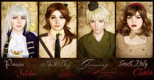Hetalia Nyotalia Germany Prussia Italy cosplay by Rubrum-Cervi