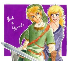 Link and Sorrel by V-0410