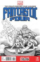 Fantastic Four Minimate cover by Donny-B