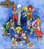 Naruto cosplaying as Digimon by Zhyrhe