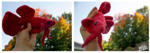 Red Betta Fish Plushie by BeeZee-Art