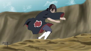 Itachi Battle by itachiulquiorra