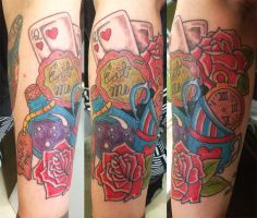Alice in Wonderland Tattoo by ngoc50
