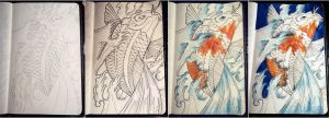 moleskine koi process by catherinetseng