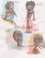 Ancestral story_characters concept 2 by Kitabana