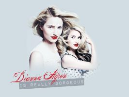 Dianna Agron Wallpaper I by Lennves