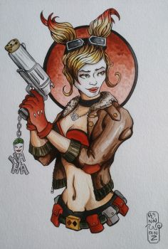 Bombshell Harley Fan Art  by Solanum80