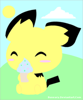 Pichu + Icecream by Buneary