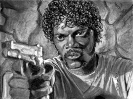 Jules of Pulp Fiction-Samuel Jackson by Catluckey