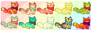 cold weather kitties adopts SOLD by Kiboku