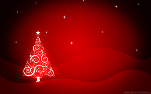 Red Xmas Wallpaper by graphicavita