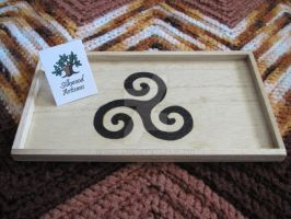 Woodburned tray 1 by tiscaitlin