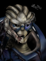 Garrus- Mass effect 2 by zouilleuh-Drawing