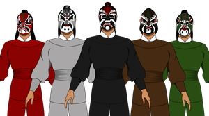 5 Deadly Venoms kung fu vector drawing by Kphgraphics