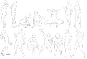 A Bunch Of Poses by stretch1