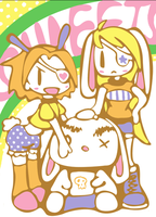 one eyed rabbit gang SWEETS by mandichan