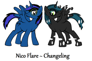 Nico Flare - Changeling by iPandacakes