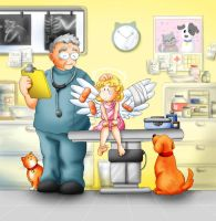 An angel at the vet by Zzzeus