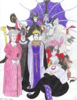 Disney Villains by HizumiX13