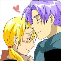 Trunks and Marron :3 by LittleMxT