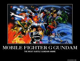 Mobile Fighter G Gundam Motivational Poster by slyboyseth