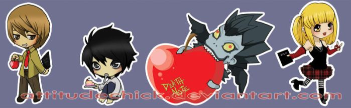 Death Note Chibi's by attitudechick