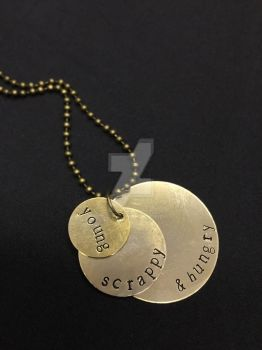 Hamilton stamped pendant by theevergreenburrow