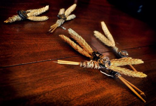 Wheat Boutonnieres by harleygiggles