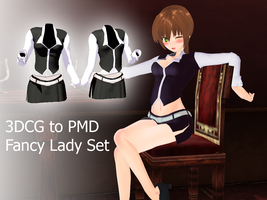 NJXA- Fancy Lady Set by MMDFakewings18