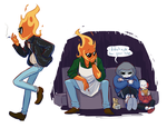UT - Young Grillby Doodles by OyOy