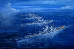 Sea Power Battleship Division 2 off Virginia Capes by DesertStormVet