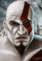 Kratos by ceriselightning