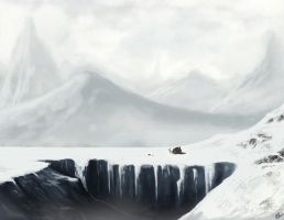 Icy landscape by Xelgot