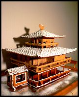 Gingerbread Kinkaku-ji 2009 by mistymoonlight