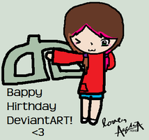 Bappy 12th Hirthday DevianART! by Ayleia-The-Kitty