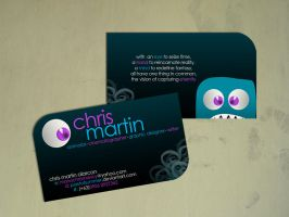 chris martin call card by poetofsummer