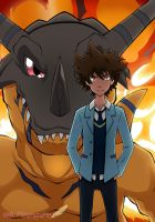 Tai y Greymon (Digimon Adventure tri) by HeleMinimanimo