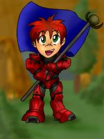 Chibi Red Zealot by PhoenixTrooper