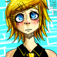 Rin Kagamine by rogues-fox