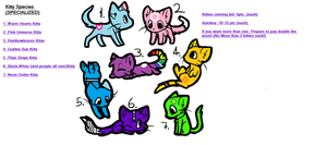 Special Species Kitty Adopts! by XxTheBelieverXx