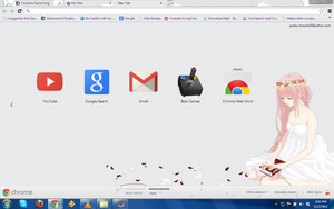 Chrome Theme Vocaloid Megurine Just Be Friends by iSaika15