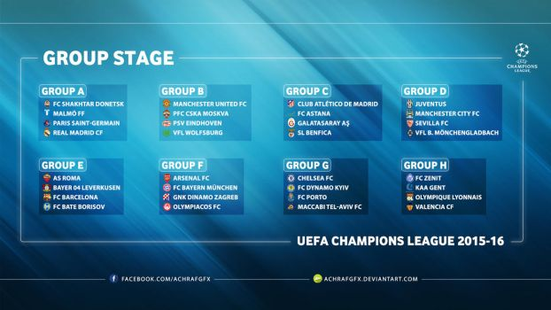 UEFA CHAMPIONS LEAGUE GROUP STAGE 2015/16 by Achrafgfx