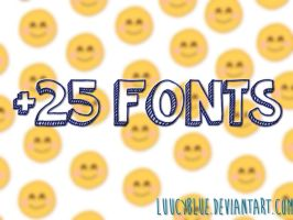 Fonts. by luucyblue