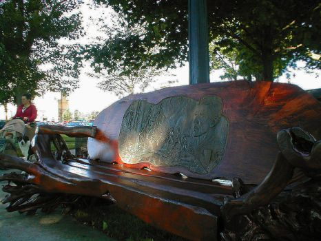 City Park Wooden Bench by DMWVCS