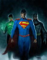 Green Lantern, Superman, and Batman by Habjan81