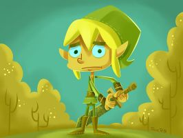 Link afraid Fanart by rickrd
