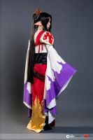 Tsubasa: Ashura with Flames of Purple and Yellow by RoxyRoo
