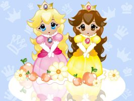 Peach and Daisy wallpaper by jblake85