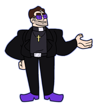 Father Cyril the corrupt priest by Cuppykins